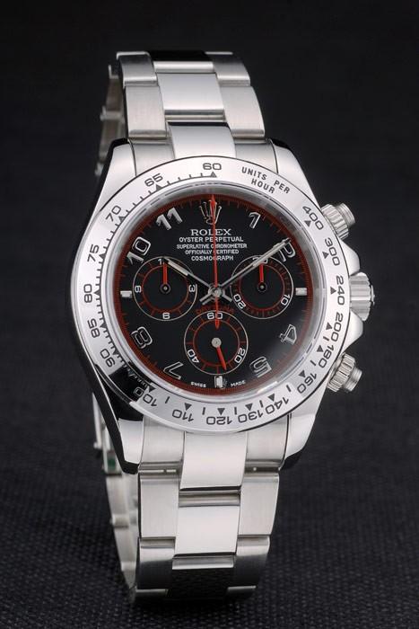Rolex Daytona Automatic Black Dial-Red Marking replica