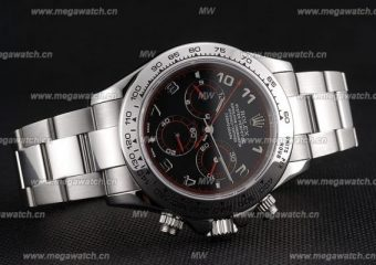 Rolex Daytona Automatic Black Dial-Red Marking replica